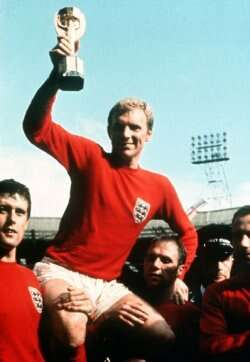 Bobby Moore lifts the World Cup for England